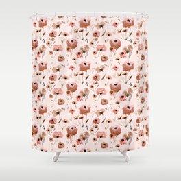 Farmhouse floral - pink Shower Curtain