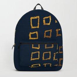Golden squares Backpack