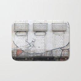 The facade's face, graffiti Bath Mat