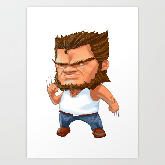 Mini Wolverine Art Print