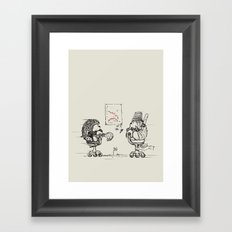 Meanwhile,at the office... Framed Art Print