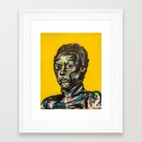 miles davis Framed Art Prints featuring Miles Davis by The Art of Murjani Holmes