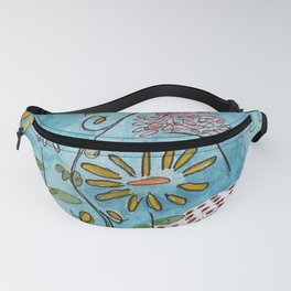 blue toile by cocoblue Fanny Pack