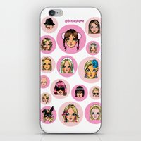 cartoons iPhone & iPod Skins featuring CartooNEY - Britney Spears Cartoons by Eduardo Sanches Morelli