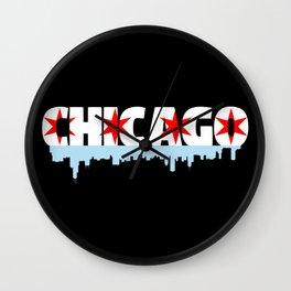 Chicago Flag Skyline Wall Clock