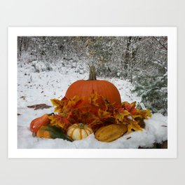 Frost is on the Pumpkin Art Print