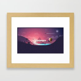 The Sky Was Pink Framed Art Print
