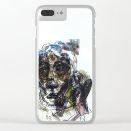 Hiding From Cops and Cages Clear iPhone Case