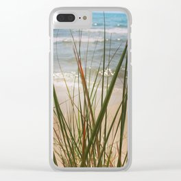 Behind the Grass (Lake Michigan Shore) Clear iPhone Case