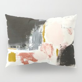 Jeanne's Song Abstract Painting with Black, Orange, Pink and Ochre Pillow Sham