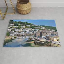 England Looe river Cities Building Rivers Houses Rug