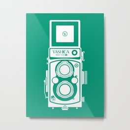 Yashica Mat 124G Camera Emerald Metal Print