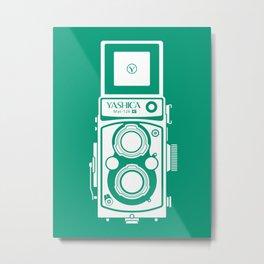 Yashica Mat 124G Camera Emerald Metal Print