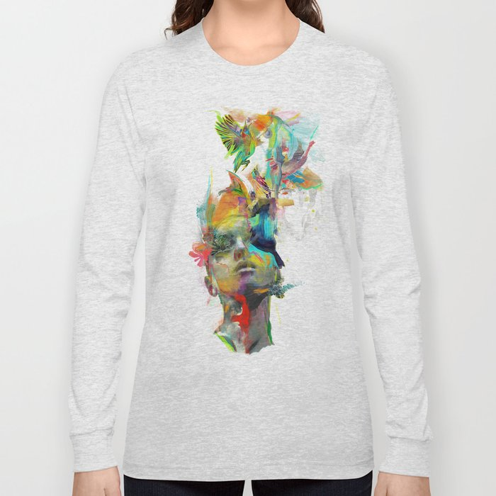 f5ab233b7ff0 Dream Theory Long Sleeve T-shirt by archann | Society6