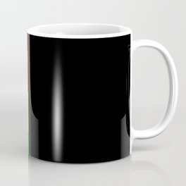 Rainbow Block in Black Coffee Mug