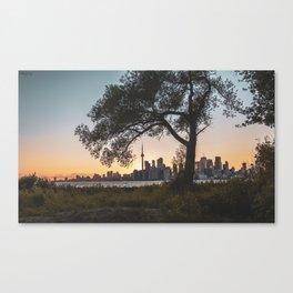 Toronto Skyline Sunset Canvas Print