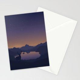 minimalist nature landspace evening stars Stationery Cards