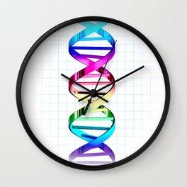 DNA Genetic Strand Science Symbol Wall Clock