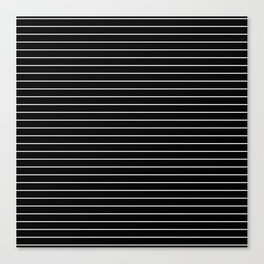 Thin White Lines - Blakc and white stripes Canvas Print