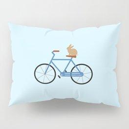 Bunny Riding Bike Pillow Sham