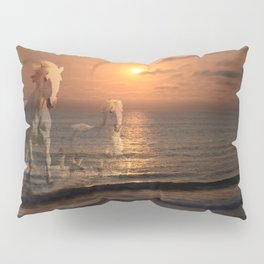 Sea Horses, Soul Mates, Running Horses, Spirits of the Sea Pillow Sham