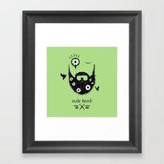 Make Beards Not War! Framed Art Print