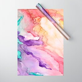 Color My World Watercolor Abstract Painting Wrapping Paper