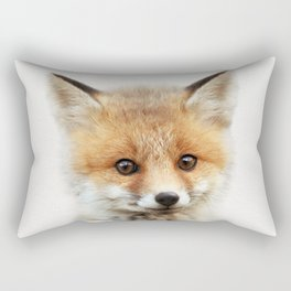 Baby Fox, Baby Animals Art Print By Synplus Rectangular Pillow