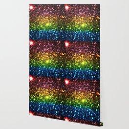 Geometric Galaxy Stars : Rainbow Wallpaper