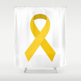 Yellow Awareness Support Ribbon Shower Curtain
