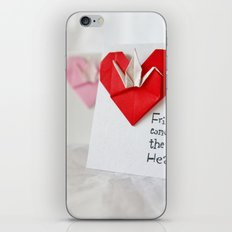Friendship Comes from the Heart - Origami iPhone & iPod Skin