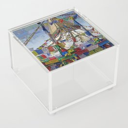 NEPALI PRAYERS CARRIED BY THE WIND FROM FLAGS Acrylic Box