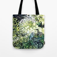 green lantern Tote Bags featuring Green Lantern  by MelissaMoffatCollage