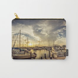 Summer Harbor Sunset Carry-All Pouch