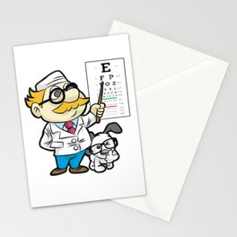 OPTOMETRIST AND DOG GLASSES Optometry Eye Doctor Stationery Cards