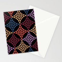 Triangle mosaic Stationery Cards