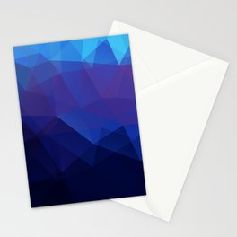 Blue abstract background Stationery Cards