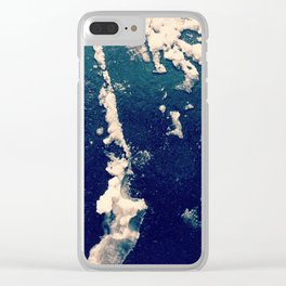 Winter Snow Temporary Abstractions no. 1 Clear iPhone Case