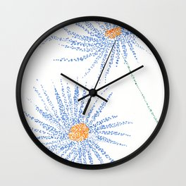 flower V Wall Clock