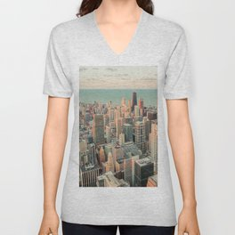 CHICAGO SKYSCRAPERS Unisex V-Neck