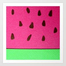 Watermelon Papercut Art Print