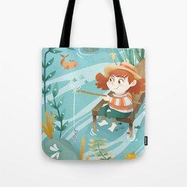 Giadina goes to fishing Tote Bag