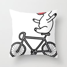 WIT bike riding Throw Pillow