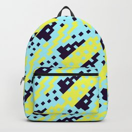 Chocktaw Geometric Square Cutout Pattern - Electric Ray Backpack