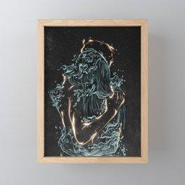 Water and fire. Framed Mini Art Print