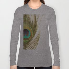 Peacock Feather Long Sleeve T-shirt