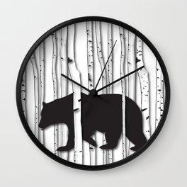 Lonely Bear Wall Clock