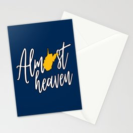 Almost Heaven West Virginia State Map Stationery Cards