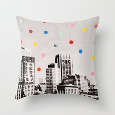 citydots Throw Pillow
