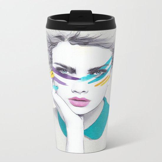 War Paint Sally Metal Travel Mug
